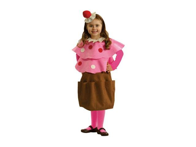 Dress Up America Halloween Party Costume Creamy Cupcake Size Small (4-6)