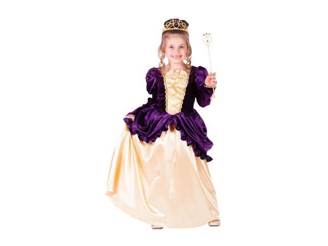 Dress Up America Halloween Party Costume Purple Belle Ball Gown Size Medium (8-10)