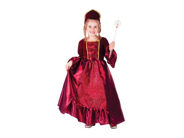 Dress Up America Halloween Party Costume Burgundy Belle Ball Gown Size Small (4-6)