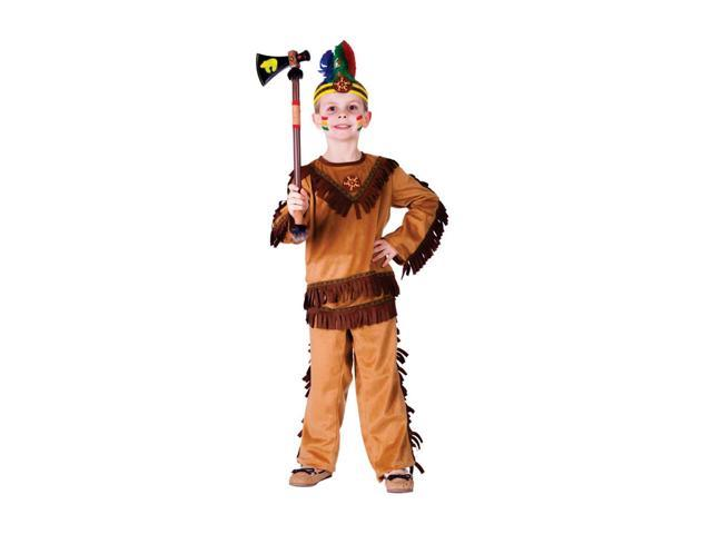 Dress Up America Halloween Party Costume Indian Warrior Boy Size Toddler T4