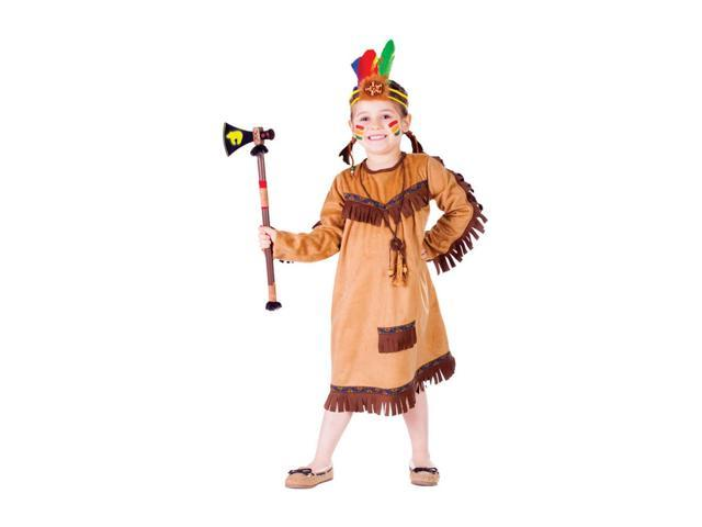 Dress Up America Halloween Party Costume Brave Indian Girl Size Toddler T4