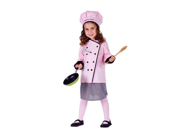 Dress Up America Halloween Party Costume Master Girl Chef Size Small (4-6)