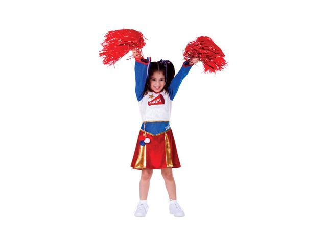 Dress Up America Halloween Party Costume American Cheerleader Size Small (4-6)