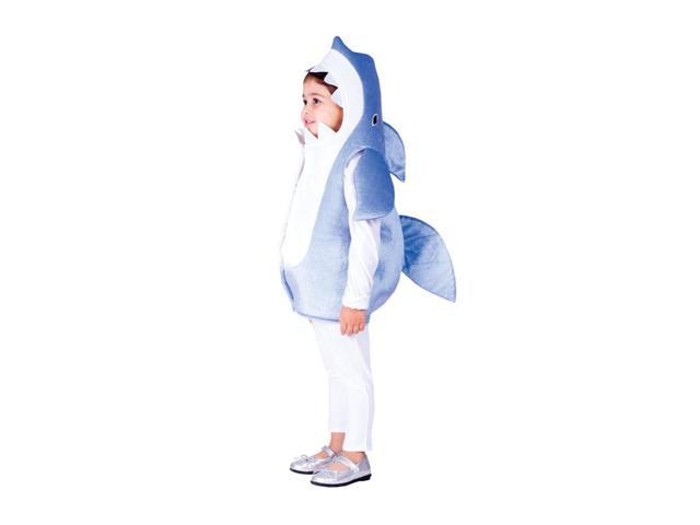 Dress Up America Halloween Party Costume Blue Shark Size Small (4-6)