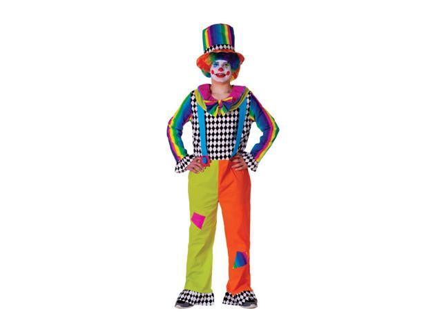 Dress Up America Halloween Party Costume Adult Jolly Clown Size Adult Medium