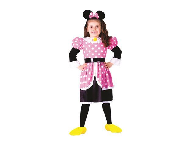 Dress Up America Halloween Party Costume Ms. Mouse Size Small (4-6)