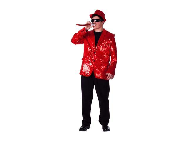 Dress Up America Halloween Party Costume Red Sequined Blazer Size Adult Large
