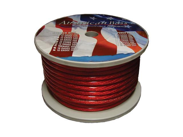 American Bass Wire 8 Ga. Red 100 Ft Roll*Ab666Rd**P8Gr* *Ab665Rd*
