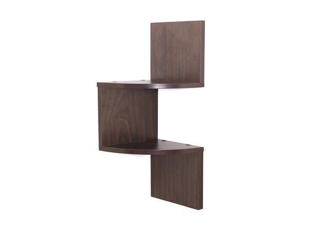 Danya b home decorations kitchen accessories laminated corner shelf in walnut finish - Danya b corner shelf ...
