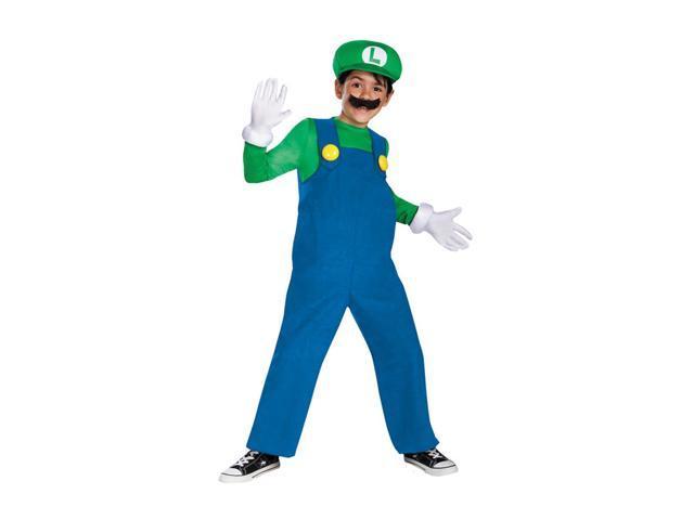 Morris Costumes Halloween Festival Accessories Mario Luigi Deluxe Boys 10-12
