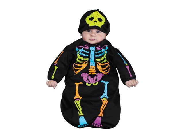 Halloween Festival Accessories Skelebaby Bunting 0-9 Mo
