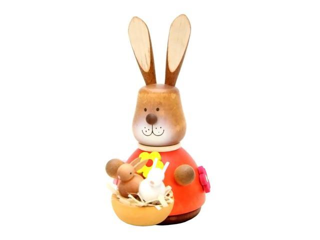 Alexander Taron Holiday Decoration Gift Accessories Christian Ulbricht Ornament Bunny With Baby Painted (No String) 3.75