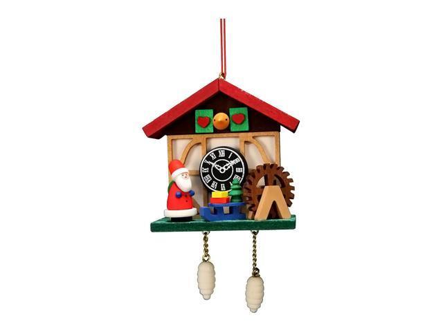 Alexander Taron Christian Ulbricht Ornament - Cuckoo Clock Santa - 4.5