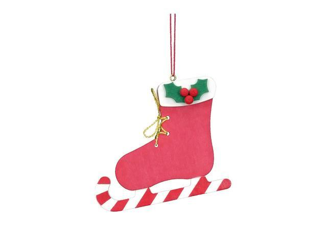 Christian Ulbricht Ornament - Red Ice Skate - 2.75H X 2.5W X .25D