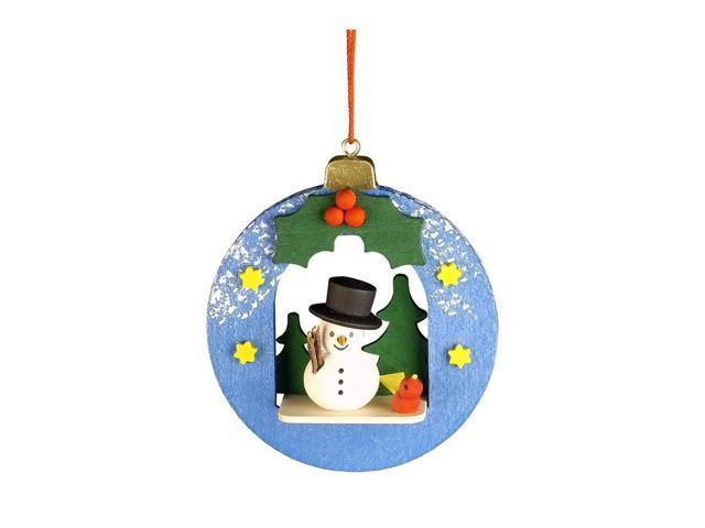 Christian Ulbricht Ornament - Snowman In Xmas Ball - 3H X 2.75W X 1D