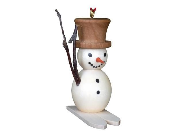 Christian Ulbricht Ornament - Snowman On Skis - 2H X .75W X 2D