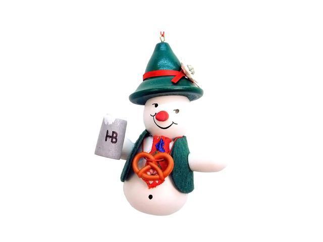 Christian Ulbricht Ornament - Snowman Beerdrinker - 4H X 3W X 2.25D