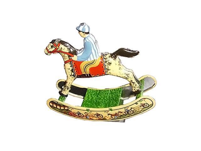 Alexander Taron Collectible Tin Toy Horse With Rider 4