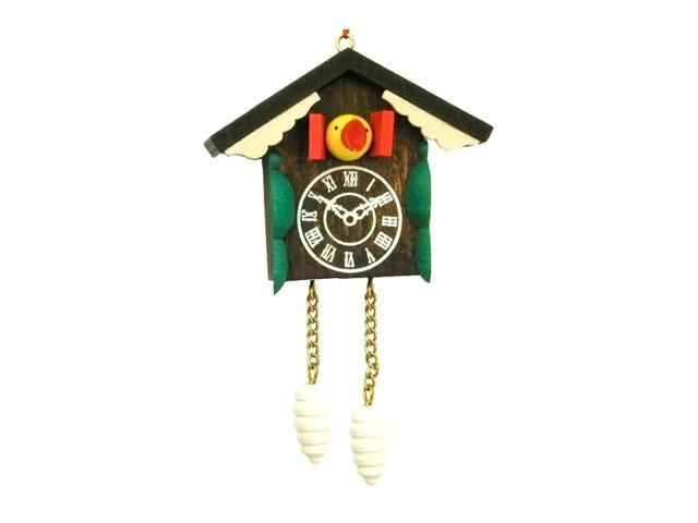 Christian Ulbricht Ornament - Cuckoo Clock - 3.5H X 2.25W X 1D