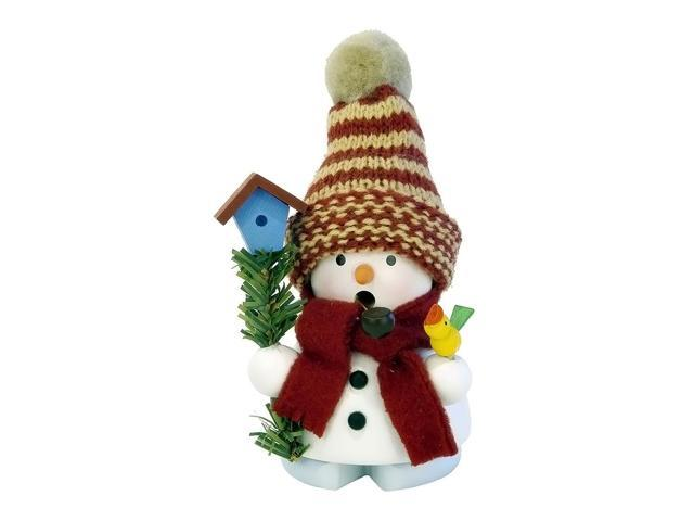 Christian Ulbricht Incense Burner - Snowman With Birdhouse - 4.5H X 3W X 2.5D