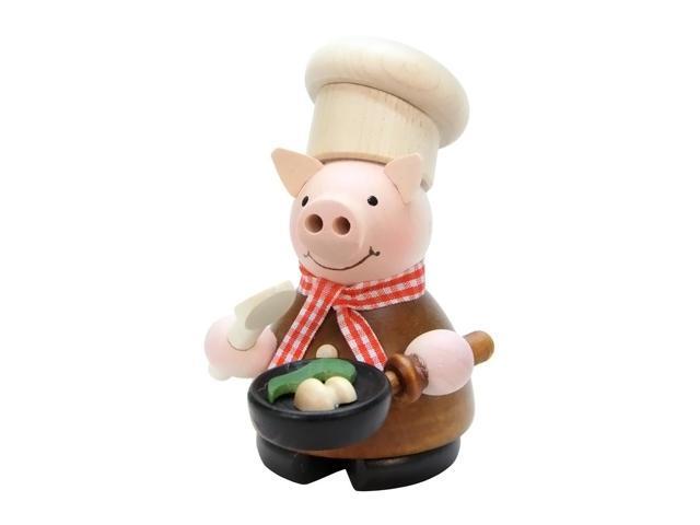 Christian Ulbricht Incense Burner - Lucky Pig Chef - 4.5H X 3W X 3.5D