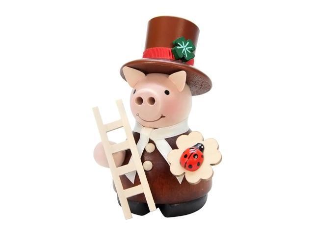 Christian Ulbricht Incense Burner - Lucky Pig Chimney Sweep - 4.5H X 3W X 3D