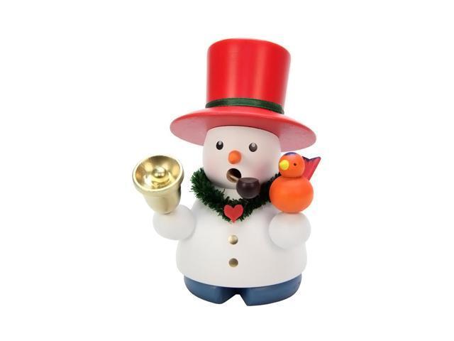 Christian Ulbricht Incense Burner - Snowman With Bell - 4.25H X 3W X 3D