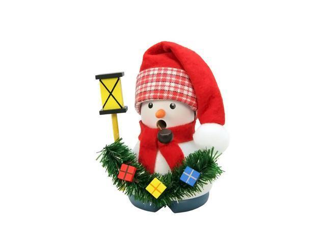 Christian Ulbricht Incense Burner - Snowman With Lantern - 4H X 3W X 2.5D