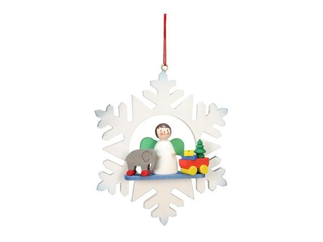 Alexander Taron Home Decoration Christian Ulbricht Ornament - Angel In Snowflake - 3.5H X 3W X 1D