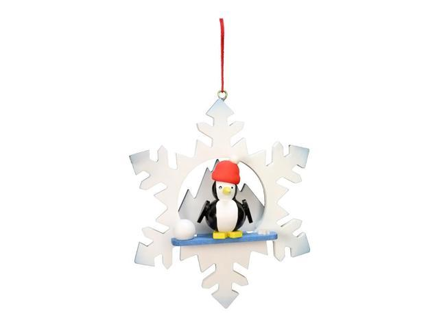 Alexander Taron Home Decoration Christian Ulbricht Ornament - Penguin In Snowflake - 3.5H X 3W X 1D