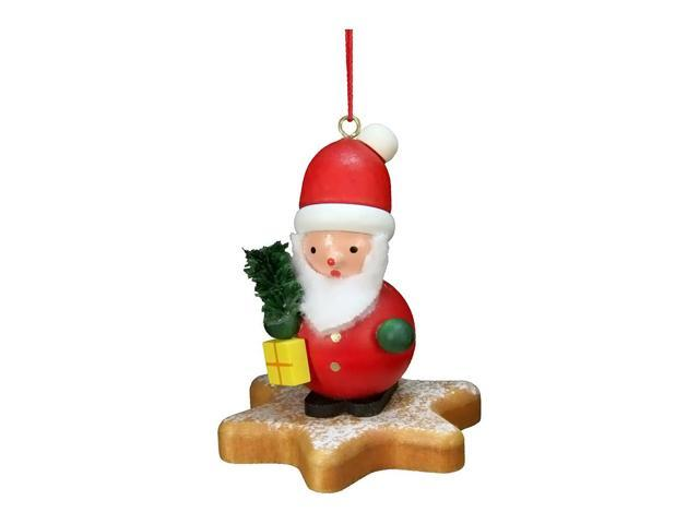 Christian Ulbricht Ornament - Santa On Star - 2.5H X 2W X 2D