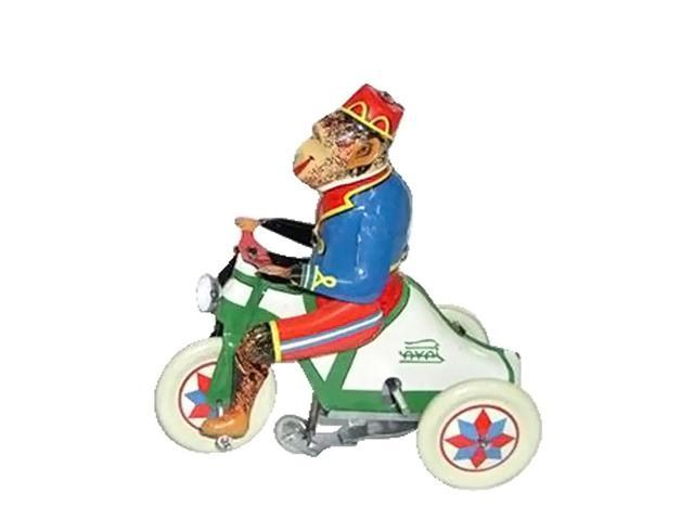 Alexander Taron Collectible Tin Toy Monkey On Tricycle 4.5