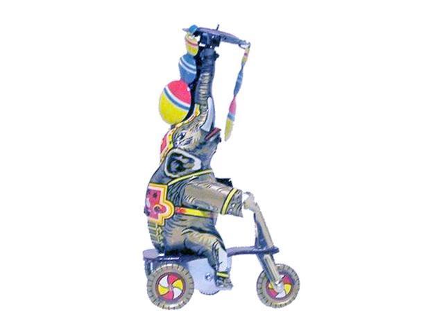 Alexander Taron Tin Wind-Up Elephant Rider Figurine