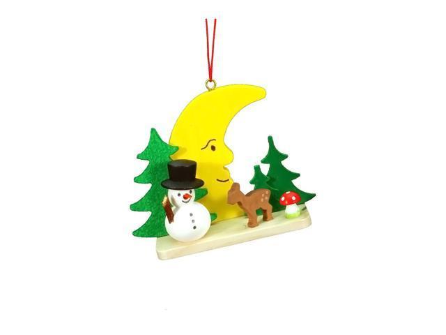 Alexander Taron Christian Ulbricht Ornament - Snowman On Moon - 2.25