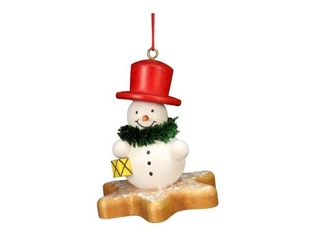 Alexander Taron Home Decoration Christian Ulbricht Ornament - Snowman On Star - 2.5H X 2W X 2D