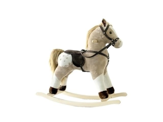 Alexander Taron Rocking Horse Brown And White Pinto With Sounds 24