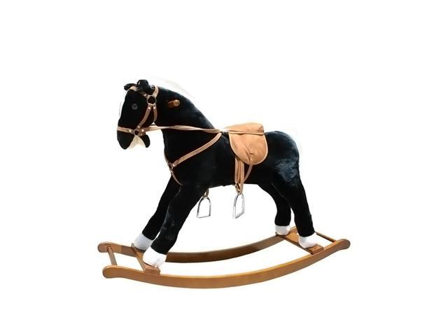 Alexander Taron Large Black And White Rocking Horse With Sound Effects 31