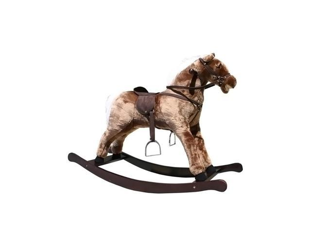 Alexander Taron Large Brown Rocking Horse With Sound Effects 31