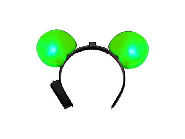 Halloween Holiday Seasonal Party Costume Accessory LED Mouse Ears Green