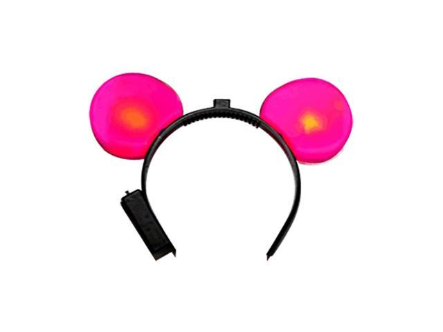 Halloween Holiday Seasonal Party Costume Accessory LED Mouse Ears Pink