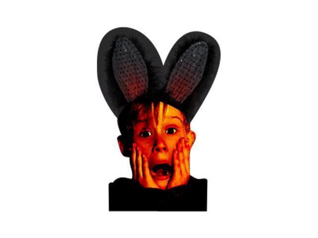 Halloween Holiday Seasonal Party Costume Accessory Black on Black Bunny Ears