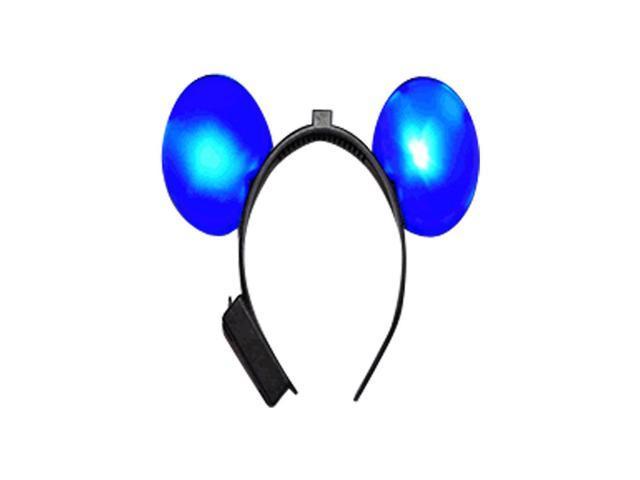 Halloween Holiday Seasonal Party Costume Accessory LED Mouse Ears Blue