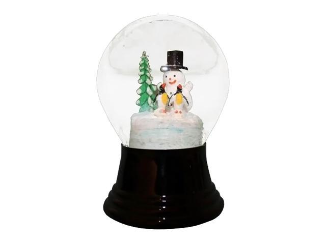 Alexander Taron Perzy Snowglobe Medium Snowman with Penguins - 5