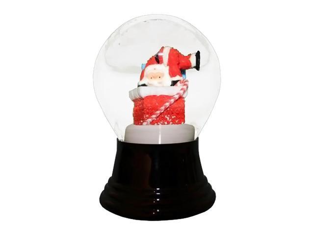 Alexander Taron Perzy Snowglobe Medium Santa in Chimney - 5