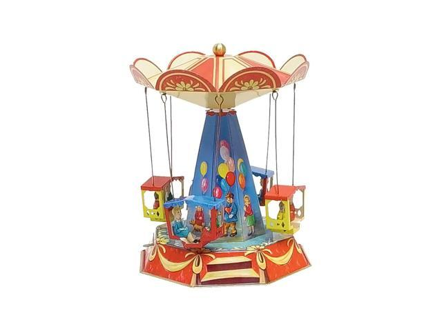 German Collectible Tin Toy - Old Fashioned Carousel - 9