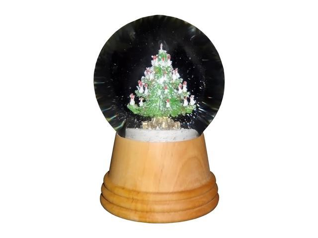 Perzy Snowglobe, Medium Christmas tree with wooden base - 5