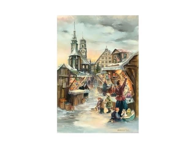 Alexander Taron Home Seasonal Decorative Accessories Bruck & Sohn Advent - Scene from city of Stuttgart - 15