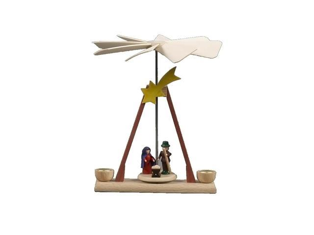 Alexander Taron Home Seasonal Decorative Accessories Dregeno Pyramid - Nativity Scene - 5.25