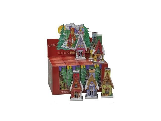 Knox Metal Incense House - Assorted Houses - Display box of 12 pieces - 10.5
