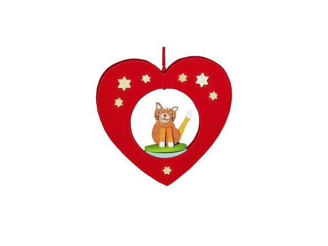 Graupner Ornament - Cat in Heart - 3